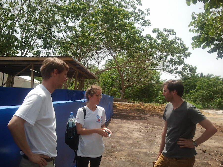 Visita técnicos al Holding Center Kassumpé.