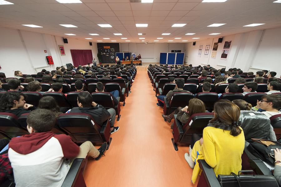 Inauguración Campaña en el Instituto secundariaLa Ería Oviedo